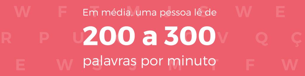 Média de palavras lidas por minuto - Como calcular carga horária de cursos